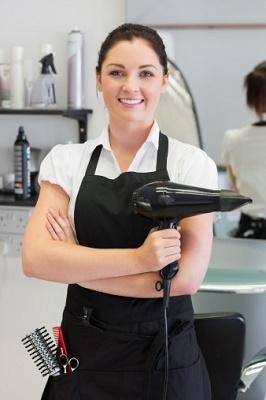 hands-on work as a hair stylist