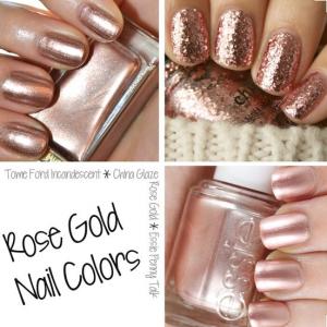 nail trends rose gold pinterest