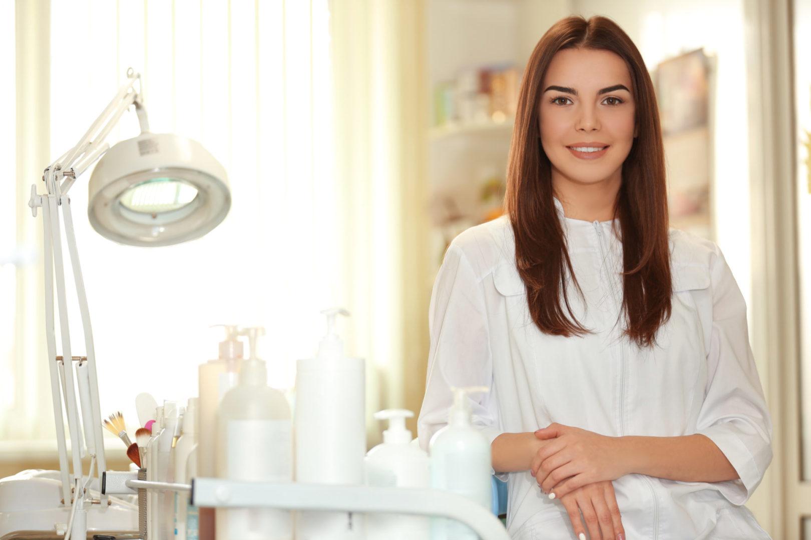 Happy Cosmetology school student